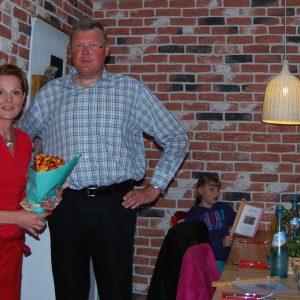 Die Inhaberin der neuen Pizzeria Stella, Steffi und Rainer Fich