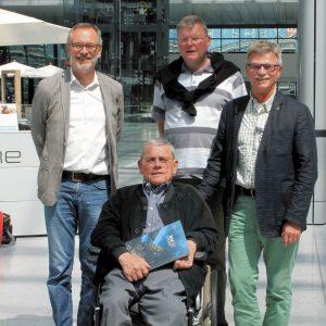 v.l.n.r. Klaus Arabin, Wilfried Krumpeter, Rainer Fich und Udo Landgrebe