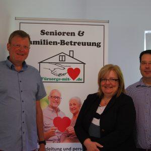 """Rainer Fich besucht die neu gegründete """"Fürsorge mit Herz GmbH"""""""