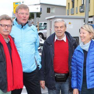 Rainer Fich verabschiedet die Delegation auf den Weg nach Moulins