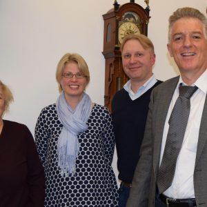 V.l.n.r.: Isil Yönter, Katja Koci, Christian Euler und Konrad Zündorf