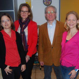 De neue Vorstand der SPD Dortelweil, auf dem Bild von links nach rechts: Maria Skorupski, Silke Heinemann, Michael Wolf und Jana Schetter