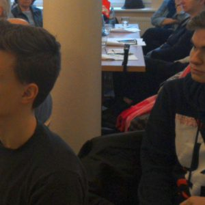 Axel Nieslony und Janis Ahäuser bei der Jahreshauptversammlung der SPD Bad Vilbel